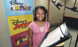 "DOC MCSTUFFINS - May 17, 2011 - Kiara Muhammad records the title role of Doc in Disney Junior's ""Doc McStuffins,"" an animated series that models good health, hygiene, compassion and nurturing for kids age 2-7.  The series premieres FRIDAY, MARCH 23 on the popular Disney Junior block on Disney Channel (10:00-11:00 a.m., ET/PT) and the new 24-hour Disney Junior channel (4:00-5:00 p.m., ET/PT). (Photo by Todd Wawrychuk/Disney Junior via Getty Images) KIARA MUHAMMAD"