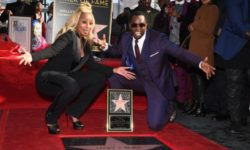 """Recording artist Mary J. Blige (L) is joined by Sean """"Diddy"""" Combs as she is honored with a star on the Hollywood Walk of Fame, January 11, 2018 in Hollywood, California. The Grammy Award-winning artist is nominated for the 2018 Golden Globe, Screen Actors Guild and Critic's Choice Awards for her performance in the Netflix film """"Mudbound.""""  / AFP PHOTO / Robyn Beck        (Photo credit should read ROBYN BECK/AFP/Getty Images)"""